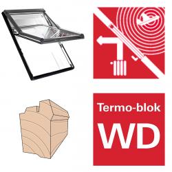 Dachfenster Roto Designo R66E H Schwingfenster aus Holz acusticLine NE mit Wärmedämmblock