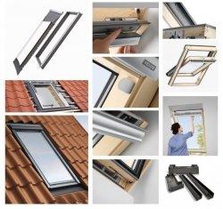 Dachfenster-Set Velux GLL 1061 3-fach-Verglasung Uw= 1,1 Schwingfenster Holzfenster EDJ 2000 Eindeckrahmen mit BDX 2000 Thermische Isolationsset ThermoTechnology
