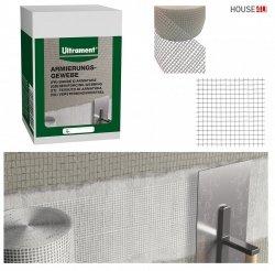 Ultrament Armierungsgewebe 10 cm x 20 m, Glasfasergewebe, extrem reißfest, für rissgefährdete Bereiche, Innen- und Außenbereich