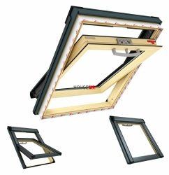 Dachfenster Roto Q-4 H2S P5 Schwingfenster Uw=1,1 Holz 2-fach-Verglasung