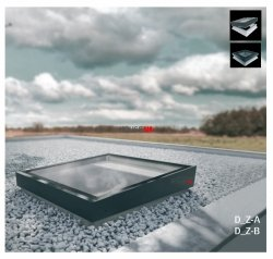 Flachdach-Fenster FAKRO DMZ-B  TYP Z Glas mit der Neigung U=0,95 W/m²K * manuelle Steuerung NEU 2019
