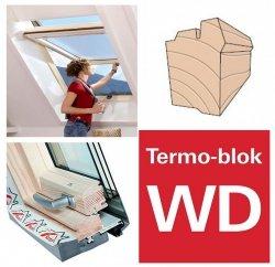 OUTLET: Dachfenster Roto Designo R7 Hoch-Schwingfenster R79 H 74x118 7/11 3-fach-Verglasung Uw-Wert 1,1 ENERGIE Holz klar lackiert mit Wärmedämmblock
