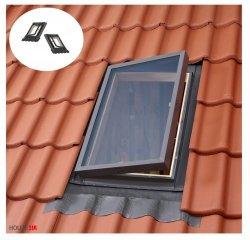 Ausstiegsfenster VELUX VELTA VLT 033 85x85, Dachluke links und rechts, Skylight für unbeheizte Räume, Dachausstiegsfenster,  Drehfenster, Skylight für unbeheizte Räume,  Kaltraumfenster, Eindeckrahmen integriert mit Ausgangsfenster