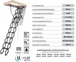 Bodentreppe Oman Long Flex Termo für hohe Räume