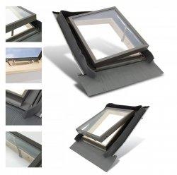 Ausstiegsfenster Rooflite 45x73 - 45x55 Skylight Fenstro für ungeheizte Räume