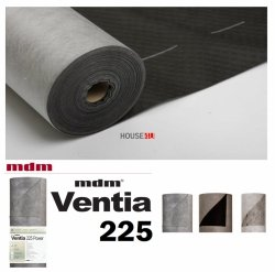 Unterspannbahn mdm Ventia 225 Power 75m² Wasserdichte, dampfdurchlässige Membran für unterbrochene Dächer und Wände