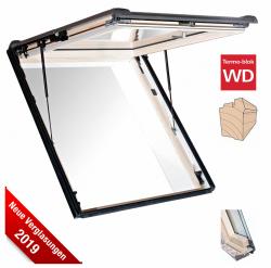 Roto Designo R8 Wohnsicherheitsausstieg Dachfenster WSA R88C H WD AL aus Holz