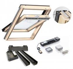 Velux Schwingfenster GLL 1061 3-fach-Verglasung Holz + EDZ + VELUX INTEGRA® Elektro-Nachrüst-Set