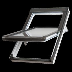 Dachfenster Okpol BGOV  VGO E2 (PVC) Uw= 1,3 Schwingfenster Kunstoffenster PVC Profile in Weiß