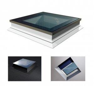 Flachdach-Fenster OKPOL PGX A1 PVC Festverglastes Uw=1,1 W/m²K/ Flachverglasung