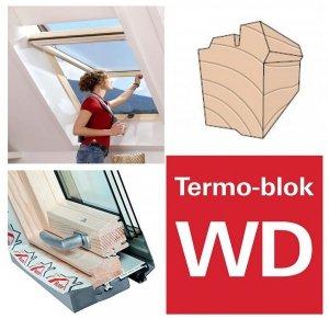 OUTLET: Dachfenster Roto Designo R7 Hoch-Schwingfenster R79 H 74x118 7/113-fach-Verglasun<br />g Uw-Wert 1,1 ENERGIE Holz klar lackiert mit Wärmedämmblock