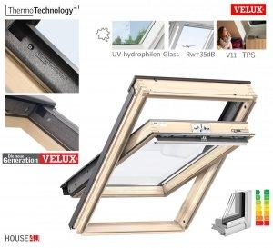 VELUX Dachfenster GLL 1064 3-fach-Verglasung Uw= 1,0 ENERGIE Rw=35dB Schwingfenster aus Holz mit Dauerlüftung ThermoTechnology STANDARD PLUS neue Generation 2021