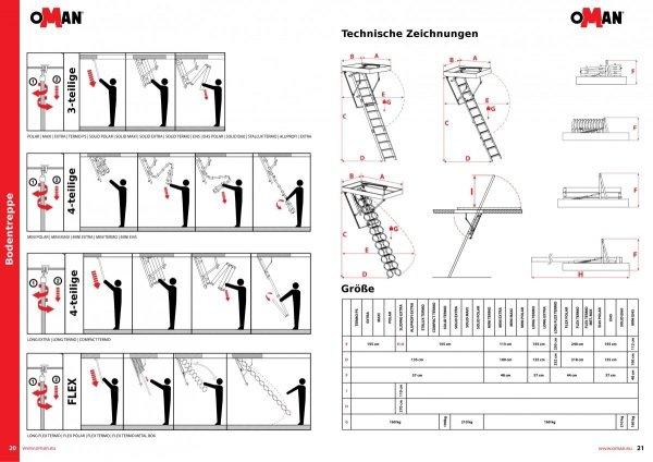 Bodentreppe OMAN MINI TERMO U=1,22 W / m2 * K www.house-4u.eu