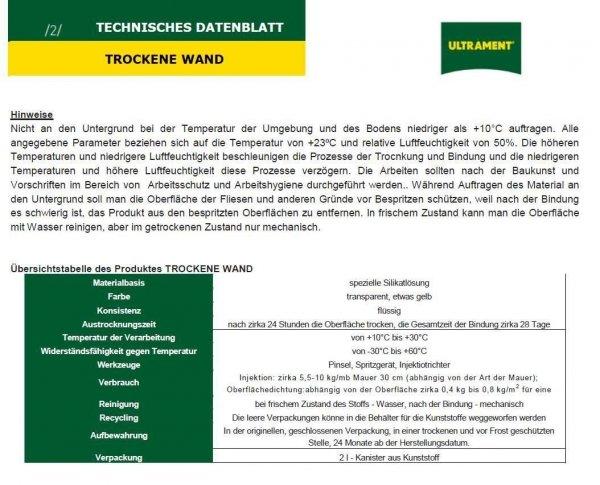 Trockene Mauer Ultrament 5 kg www.house-4u.eu
