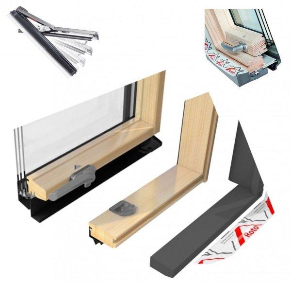 Dachfenster Roto Designo R7 Hoch-Schwingfenster R79 H 3-fach-Verglasung Uw-Wert 1,1 ENERGIE Holz klar lackiert mit Wärmedämmblock