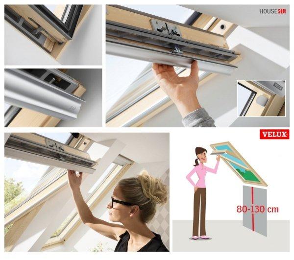 VELUX Dachfenster GZL 1051 aus Holz Schwingfenster Uw= 1,3 Thermo 2-Fach-Veglasung Holz klar lackiert VELUX ThermoTechnology™ Neue Generation 2018