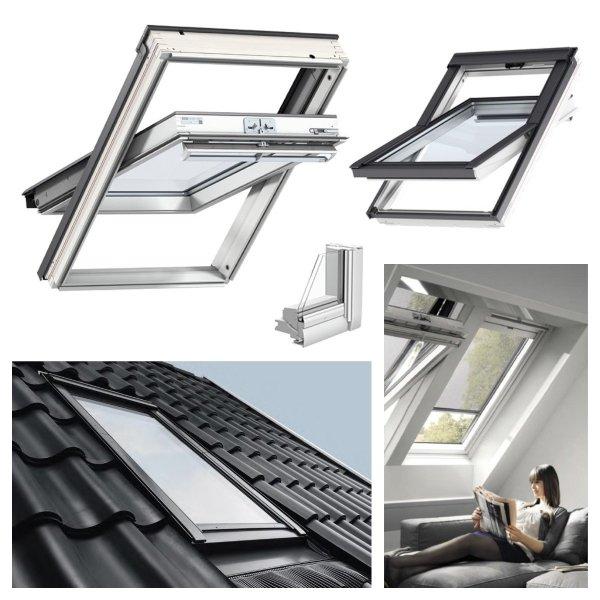 Dachfenster Kombi-Pakete THERMO Velux GGU SD0J4 Schwingfenster GGU 0070 + Eindeckrahmen EDJ 2000 mit mit Thermische Isolationsset