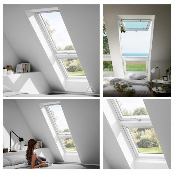 """VELUX Dachfenster GIU 0066 Kunststoff Zusatzelement """"Dachschräge""""ENERGIE PLUS  Aluminium Dachschräge Polyurethan / Kunststoff mit Holzkern"""