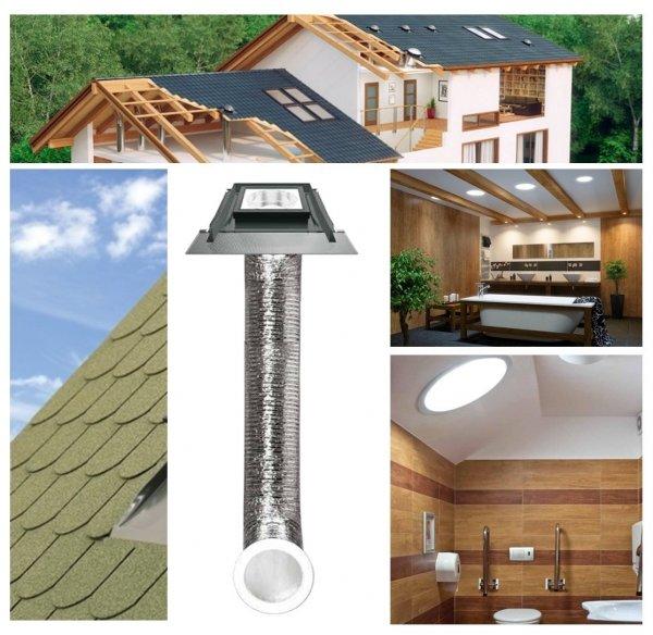 Tageslicht-Spot FAKRO SFS mit flexiblem Rohr www.house-4u.eu