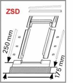Eindeckrahmen Roto Roto EDF Rx200 (EDR ZSD+WD) für Flache Eindeckmaterialen  mit WD