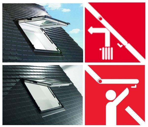 Dachfenster Roto Designo WDF R88C K WD Klapp-Schwingfenster