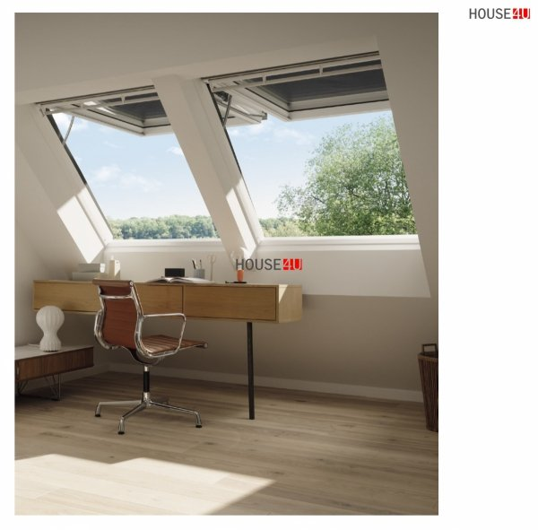 VELUX Dachfenster GPU 007021 Klapp-Schwingfenster INTEGRA Elektrofenster, Kunststoff, Polyurethan THERMO, 2-fach - Verglasung _ _70 ESG außen, VSG innen