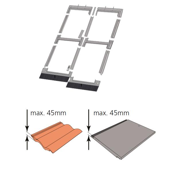 Kombi-Eindeckrahmen keylite QLTRF 2/2 Ziegel(1,5 bis 4,5cm) www.house-4u.de