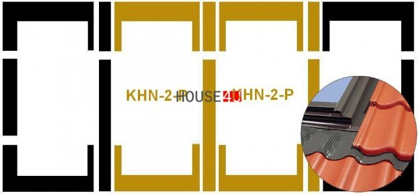 Eindeckrahmen Fakro KHN-2-P Modul für die Kombination übereinander für hochprofilierte Eindeckmaterialien www.house-4u.eu
