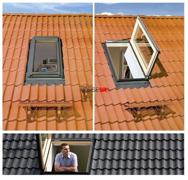 OUTLET: Ausstiegsfenster Fakro FWR U3 94x118 Dachausstiegsfenster - Ausstiegsfenster - Dachausstieg - Dachluke - Dachfenster 94x118