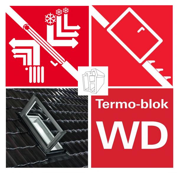 Wohndachausstieg Dachfenster R89 K2D_ (WDA R89P K WD) Kunststoff Designo Dachausstieg blueTec Plus Aluminium