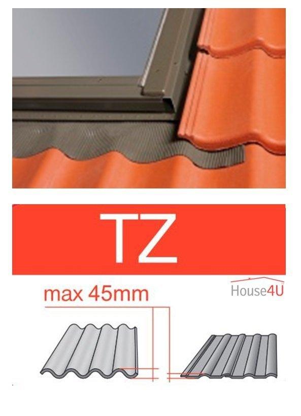 Kombi-Eindeckrahmen Optilight TZ-N2 Eindeckrahmen - für profilierte Eindeckmaterialien / Profilbeläge bis zu 4,5 cm hoch Profil www.house-4u.eu