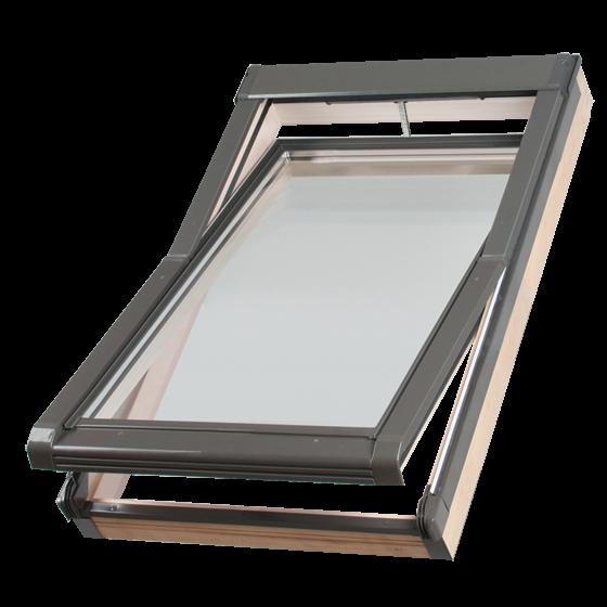 Dachfenster Okpol ISC1 E2 mit elektrischem Stellantrieb Schwingfenster www.house-4u.eu