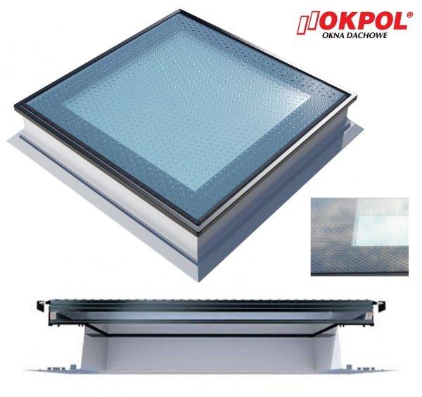 Flachdach-Fenster OKPOL PGX A5 WALK ON  Uw=1,1 W/m²K*  3-fach-Verglasung A5 Dachterrassen-Flachdach-Fenster