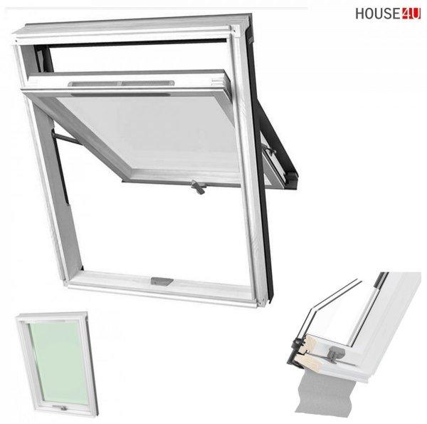 Dakea Better View KHV B1010 Hoch-Schwingfenster aus Holz Weiß lackiert, Uw=1,3 2-Fach, mit Dauerlüftung
