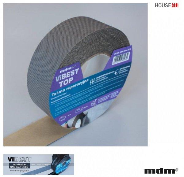 MDM® ViBEST TOP  Reparaturband Klebebaender Unterdeck-Unterspannbahnen 50 mm x 25 m PP-Spinnvlies
