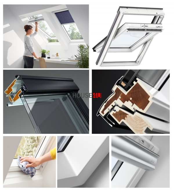 VELUX Dachfenster GLU 0051 Schwingfenster Kunststoff www.house-4u.eu
