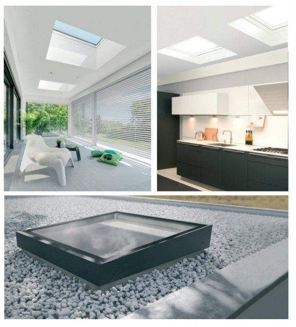 Flachdach-Fenster FAKRO Festelement  DXZ-B P2 TYP Z Glas mit der Neigung U=0,95 W/m²K * Festverglastes NEU 2019