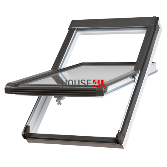 Dachfenster Okpol IGOV E2 (PVC) Uw= 1,2 Schwingfenster Kunstoffenster PVC Profile in Weiß  Ug=1,0 Dachschwingfenster 2-fach Verglasung