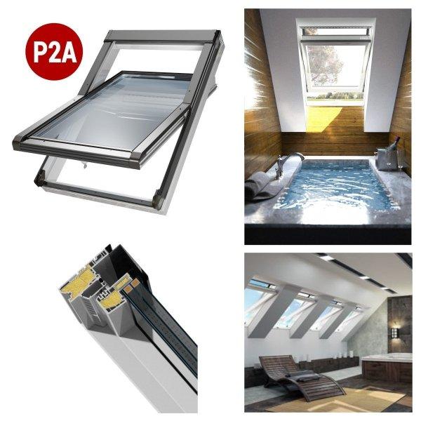 Dachfenster OKPOL IGOV N23 Kunststoff Schwingfenster 3-Scheiben Uw=0,83 Energiesparende ESG außen, VSG innen - house-4u.de