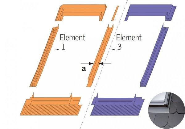 Eindeckrahmen Velux EKS 0021E Für flache Eindeckmaterialien www.house-4u.eu