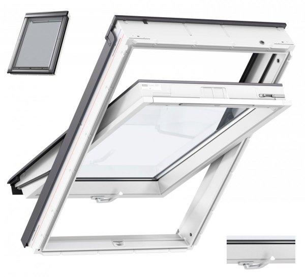 VELUX Dachfenster GLU 0051 B S10001 Uw= 1,3 Schwingfenster Kunststoff - Boden Griff  Kunststoffqualität mit Dauerlüftung alternativen für THERMO 59
