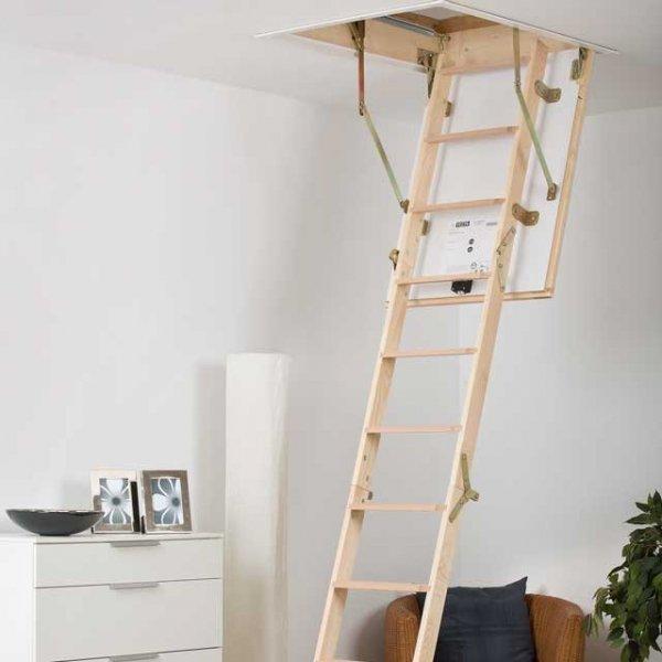 Bodentreppe DOLLE 56 SILBER  U=0,64 aus Holz www.house-4u.eu
