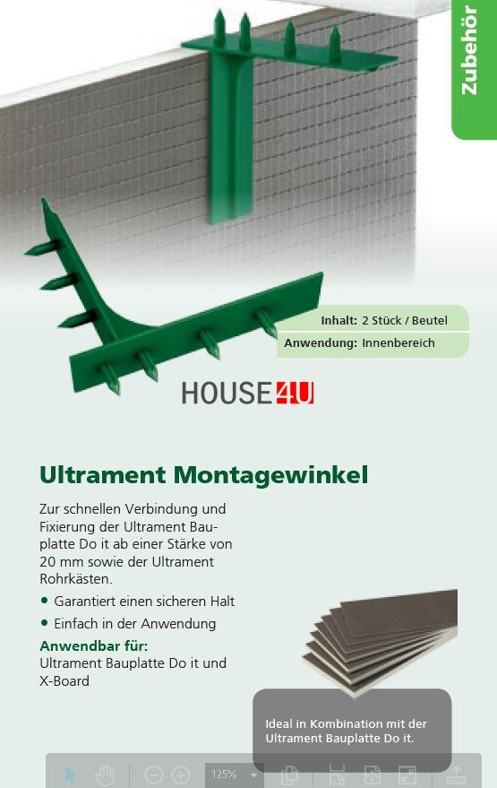 Montagewinkel Ultrament Do-it www.house-4u.eu
