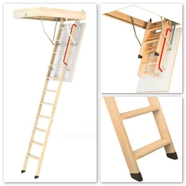 Bodentreppen Fakro LWK Komfort Mehrteilige Bodentreppen mit Holzleiter www.house-4u.eu