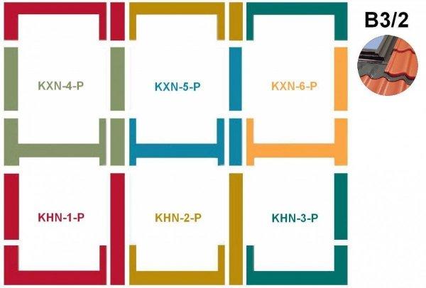 Kombi-Eindeckrahmensystem Fakro KHN B3/2 für hochprofilierte Eindeckmaterialien www.house-4u.eu