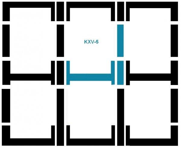 Eindeckrahmen Fakro KXV-5 Modul für die Kombination übereinander www.house-4u.eu