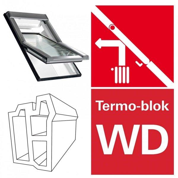 DDachfenster Roto R4 Designo WDF R45 K WD AL Uw=1,3 blueLine Schwingfenster aus Kunststoff mit Wärmedämmblock
