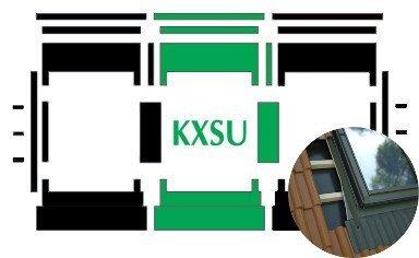 Kombi-Eindeckrahmen Okpol KXSH für flache hochprofilierte eindeckmaterialen www.house-4u.eu