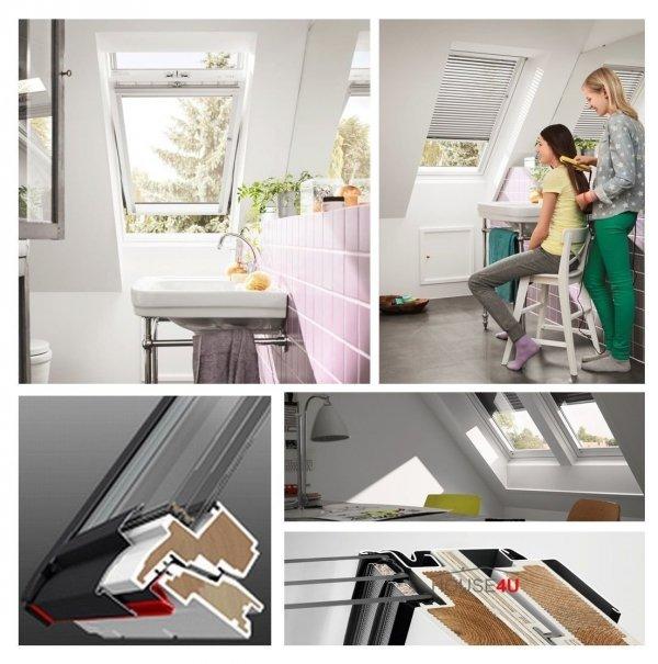 VERSAND 48H VELUX Dachfenster GLU 0061 MK10 78x160 3-fach-Verglasung Uw= 1,1 ENERGIE Schwingfenster Kunststoffqualität mit Dauerlüftung ThermoTechnology