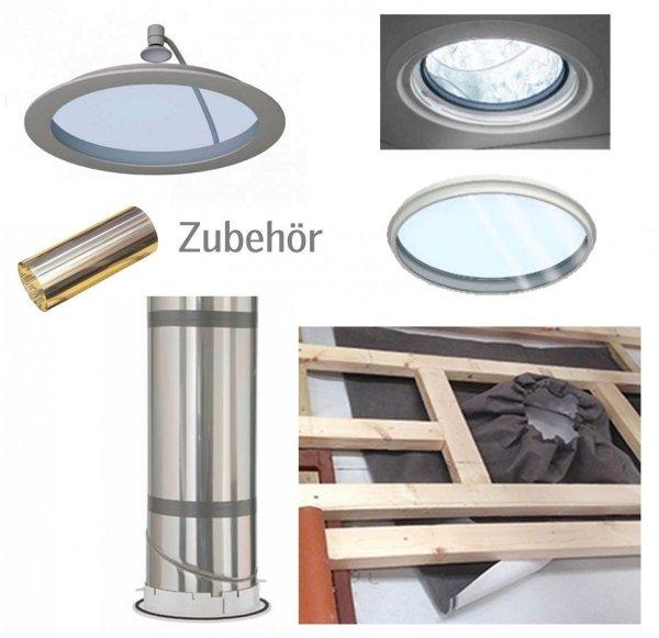 VELUX Tageslicht-spot TCR 0K14 0010 Ø 35 cm Tageslichtlampe für flache Dächer mit starres Rohr / Rahmen-Außenmaße: 60 x 60 cm